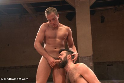 """Photo number 10 from Rich """"The Wrecking-Ball"""" Kelly vs Jacob """"The Bull"""" Durham shot for nakedkombat on Kink.com. Featuring Rich Kelly and Jacob Durham in hardcore BDSM & Fetish porn."""