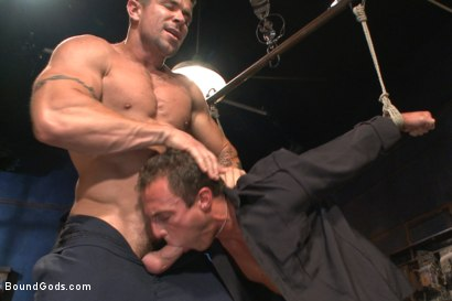 Photo number 12 from Bondage Envy shot for Bound Gods on Kink.com. Featuring Trenton Ducati, Ian Levine and Jacob Durham in hardcore BDSM & Fetish porn.