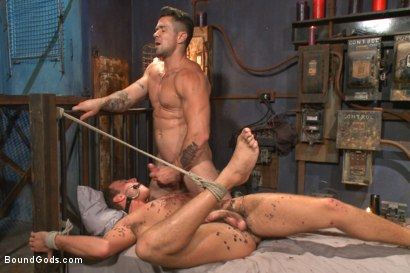 Photo number 13 from Bondage Envy shot for Bound Gods on Kink.com. Featuring Trenton Ducati, Ian Levine and Jacob Durham in hardcore BDSM & Fetish porn.