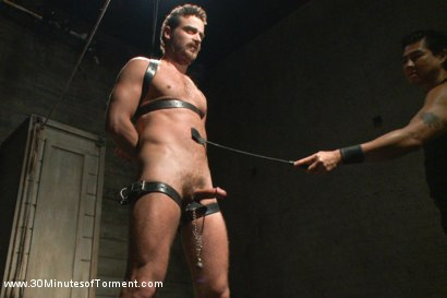 Photo number 5 from One of the most intense 30MT to date! shot for 30 Minutes of Torment on Kink.com. Featuring Leon Fox in hardcore BDSM & Fetish porn.