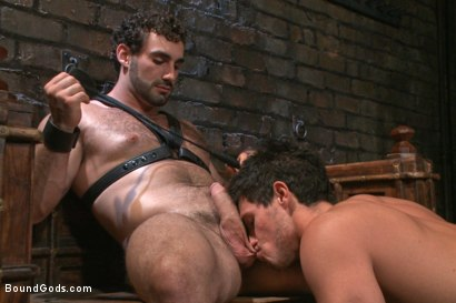 Photo number 3 from New dom Jaxton Wheeler brutally throat fucks new sub Jett Jax  shot for Bound Gods on Kink.com. Featuring Jett Jax and Jaxton Wheeler in hardcore BDSM & Fetish porn.
