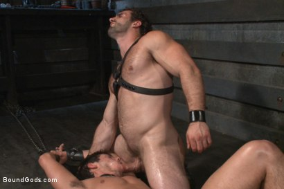 Photo number 14 from New dom Jaxton Wheeler brutally throat fucks new sub Jett Jax  shot for Bound Gods on Kink.com. Featuring Jett Jax and Jaxton Wheeler in hardcore BDSM & Fetish porn.
