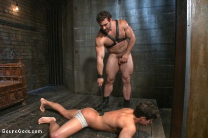 Photo number 5 from New dom Jaxton Wheeler brutally throat fucks new sub Jett Jax  shot for Bound Gods on Kink.com. Featuring Jett Jax and Jaxton Wheeler in hardcore BDSM & Fetish porn.