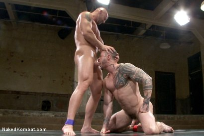 Photo number 12 from Goliath VS Machine - Which Muscled God Gets His Ass Fucked?! shot for Naked Kombat on Kink.com. Featuring Seven Dixon and Mitch Vaughn in hardcore BDSM & Fetish porn.
