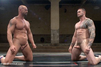 Photo number 13 from Goliath VS Machine - Which Muscled God Gets His Ass Fucked?! shot for Naked Kombat on Kink.com. Featuring Seven Dixon and Mitch Vaughn in hardcore BDSM & Fetish porn.