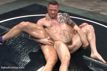 Photo number 5 from Goliath VS Machine - Which Muscled God Gets His Ass Fucked?! shot for Naked Kombat on Kink.com. Featuring Seven Dixon and Mitch Vaughn in hardcore BDSM & Fetish porn.