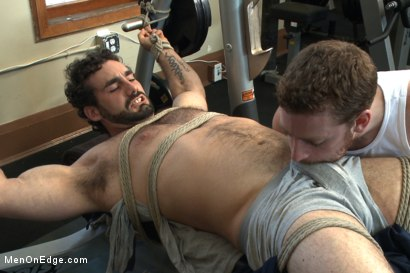 Photo number 5 from Loudmouth bodybuilder with a fat cock gets edged against his will shot for Men On Edge on Kink.com. Featuring Jaxton Wheeler in hardcore BDSM & Fetish porn.
