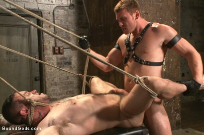 Photo number 11 from New Muscle Stud Bound Beaten and Fucked shot for Bound Gods on Kink.com. Featuring Seven Dixon and Connor Maguire in hardcore BDSM & Fetish porn.