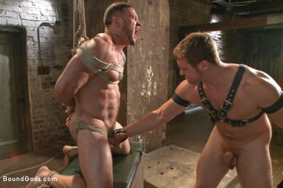 Photo number 9 from New Muscle Stud Bound Beaten and Fucked shot for Bound Gods on Kink.com. Featuring Seven Dixon and Connor Maguire in hardcore BDSM & Fetish porn.