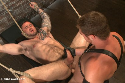 Photo number 13 from New Muscle Stud Bound Beaten and Fucked shot for Bound Gods on Kink.com. Featuring Seven Dixon and Connor Maguire in hardcore BDSM & Fetish porn.