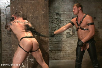 Photo number 3 from New Muscle Stud Bound Beaten and Fucked shot for Bound Gods on Kink.com. Featuring Seven Dixon and Connor Maguire in hardcore BDSM & Fetish porn.