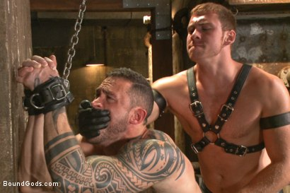 Photo number 4 from New Muscle Stud Bound Beaten and Fucked shot for Bound Gods on Kink.com. Featuring Seven Dixon and Connor Maguire in hardcore BDSM & Fetish porn.