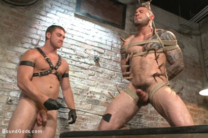 Photo number 7 from New Muscle Stud Bound Beaten and Fucked shot for Bound Gods on Kink.com. Featuring Seven Dixon and Connor Maguire in hardcore BDSM & Fetish porn.