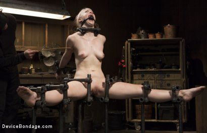 Photo number 9 from Young, Blond, All Natural Pain Slut gets a Full Dose of Brutality!! shot for Device Bondage on Kink.com. Featuring Orlando and Ella Nova in hardcore BDSM & Fetish porn.