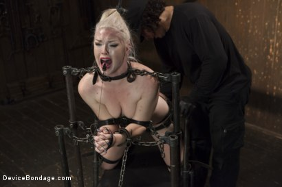 Photo number 10 from Young, Blond, All Natural Pain Slut gets a Full Dose of Brutality!! shot for Device Bondage on Kink.com. Featuring Orlando and Ella Nova in hardcore BDSM & Fetish porn.