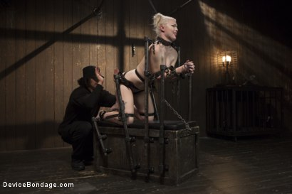 Photo number 11 from Young, Blond, All Natural Pain Slut gets a Full Dose of Brutality!! shot for Device Bondage on Kink.com. Featuring Orlando and Ella Nova in hardcore BDSM & Fetish porn.