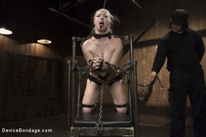 Photo number 13 from Young, Blond, All Natural Pain Slut gets a Full Dose of Brutality!! shot for Device Bondage on Kink.com. Featuring Orlando and Ella Nova in hardcore BDSM & Fetish porn.
