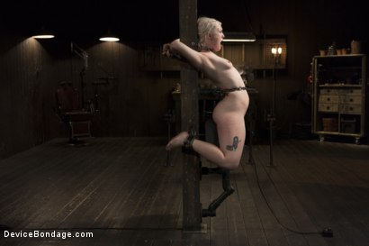 Photo number 15 from Young, Blond, All Natural Pain Slut gets a Full Dose of Brutality!! shot for Device Bondage on Kink.com. Featuring Orlando and Ella Nova in hardcore BDSM & Fetish porn.