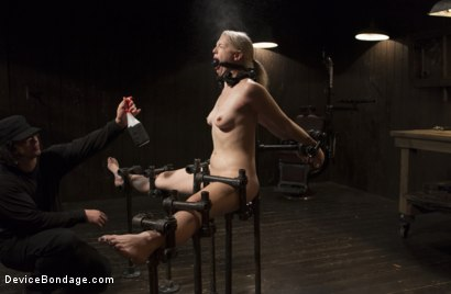 Photo number 4 from Young, Blond, All Natural Pain Slut gets a Full Dose of Brutality!! shot for Device Bondage on Kink.com. Featuring Orlando and Ella Nova in hardcore BDSM & Fetish porn.