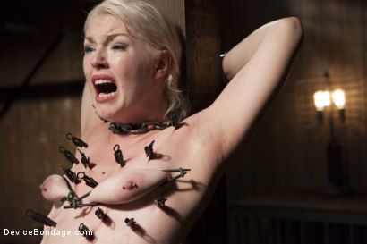 Photo number 5 from Young, Blond, All Natural Pain Slut gets a Full Dose of Brutality!! shot for Device Bondage on Kink.com. Featuring Orlando and Ella Nova in hardcore BDSM & Fetish porn.