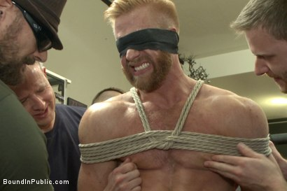 Photo number 6 from Greedy whore stuffed full of cock at a local clothing store shot for Bound in Public on Kink.com. Featuring Jessie Colter, Christopher Daniels and Trenton Ducati in hardcore BDSM & Fetish porn.