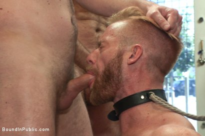 Photo number 9 from Muscled stud worships feet and takes cock after cock in bondage shot for Bound in Public on Kink.com. Featuring Jessie Colter, Christopher Daniels and Trenton Ducati in hardcore BDSM & Fetish porn.