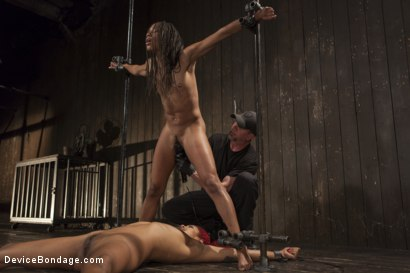 Photo number 8 from 2 Squirting Pain Sluts shot for Device Bondage on Kink.com. Featuring Daisy Ducati and Nikki Darling in hardcore BDSM & Fetish porn.