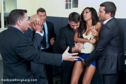 Photo number 2 from Step-father offers her up to 5 guys in order to seal a business deal. shot for Hardcore Gangbang on Kink.com. Featuring Toni Ribas, John Strong, Sadie Santana, Ramon Nomar, Astral Dust and Bill Bailey in hardcore BDSM & Fetish porn.
