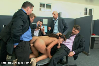 Photo number 5 from Step-father offers her up to 5 guys in order to seal a business deal. shot for Hardcore Gangbang on Kink.com. Featuring Toni Ribas, John Strong, Sadie Santana, Ramon Nomar, Astral Dust and Bill Bailey in hardcore BDSM & Fetish porn.