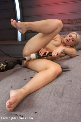 Photo number 9 from Super Blond: Annika Albright and her AWESOME Body Fuck Machines shot for Fucking Machines on Kink.com. Featuring Anikka Albrite in hardcore BDSM & Fetish porn.
