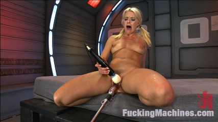 Super Blond: Annika Albright and her AWESOME Body Fuck Machines