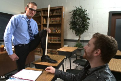 Photo number 1 from Straight professor gets edged and dildo fucked in the classroom shot for Men On Edge on Kink.com. Featuring Jonah Marx in hardcore BDSM & Fetish porn.