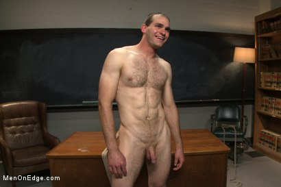 Photo number 15 from Straight professor gets edged and dildo fucked in the classroom shot for Men On Edge on Kink.com. Featuring Jonah Marx in hardcore BDSM & Fetish porn.
