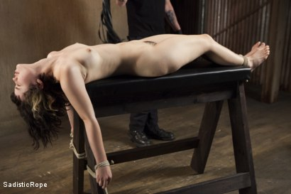 Photo number 6 from First Shoot Ever-19 yr old Learning bondage the hard way shot for Sadistic Rope on Kink.com. Featuring Yhivi in hardcore BDSM & Fetish porn.