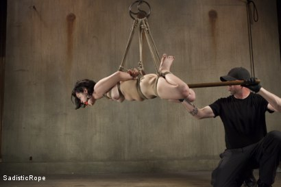 Photo number 7 from First Shoot Ever-19 yr old Learning bondage the hard way shot for Sadistic Rope on Kink.com. Featuring Yhivi in hardcore BDSM & Fetish porn.