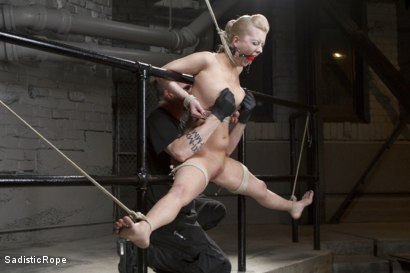 Photo number 11 from Cherry Torn - Suspended Suffering shot for Sadistic Rope on Kink.com. Featuring Cherry Torn in hardcore BDSM & Fetish porn.