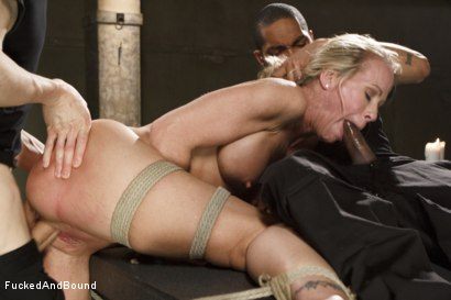 Photo number 5 from MILF Whore Stuffed with 2 Huge Cocks shot for Brutal Sessions on Kink.com. Featuring Simone Sonay, Owen Gray and Mickey Mod in hardcore BDSM & Fetish porn.