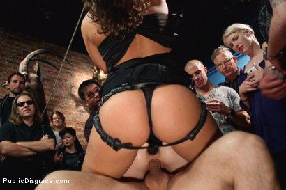 Photo number 8 from Tiny thing suspended and fucked by the unstoppable Ariel X shot for Public Disgrace on Kink.com. Featuring John Strong and Emma Haize in hardcore BDSM & Fetish porn.