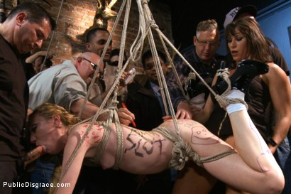 Photo number 3 from Tiny thing suspended and fucked by the unstoppable Ariel X shot for Public Disgrace on Kink.com. Featuring John Strong and Emma Haize in hardcore BDSM & Fetish porn.