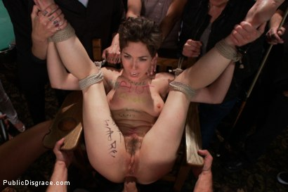 Photo number 15 from Lily LaBeau gets played in raunchy Pool Hall shot for Public Disgrace on Kink.com. Featuring Lily LaBeau, Bill Bailey and Isis Love in hardcore BDSM & Fetish porn.