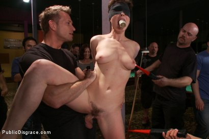 Photo number 3 from Lily LaBeau gets played in raunchy Pool Hall shot for Public Disgrace on Kink.com. Featuring Lily LaBeau, Bill Bailey and Isis Love in hardcore BDSM & Fetish porn.