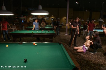 Photo number 4 from Lily LaBeau gets played in raunchy Pool Hall shot for Public Disgrace on Kink.com. Featuring Lily LaBeau, Bill Bailey and Isis Love in hardcore BDSM & Fetish porn.