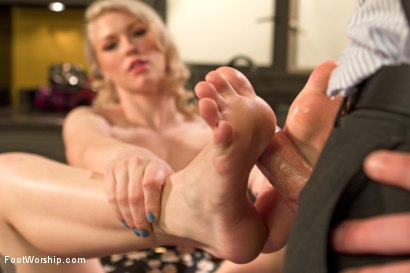 Photo number 15 from Devastating Blonde Foot Job shot for Foot Worship on Kink.com. Featuring Ella Nova  and Christian Wilde in hardcore BDSM & Fetish porn.