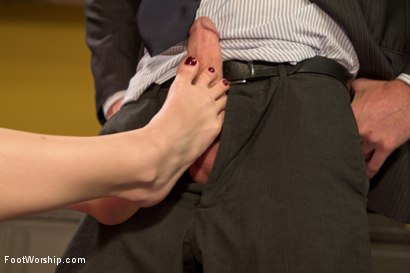 Photo number 17 from Devastating Blonde Foot Job shot for Foot Worship on Kink.com. Featuring Ella Nova  and Christian Wilde in hardcore BDSM & Fetish porn.