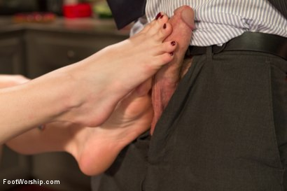 Photo number 24 from Devastating Blonde Foot Job shot for Foot Worship on Kink.com. Featuring Ella Nova  and Christian Wilde in hardcore BDSM & Fetish porn.