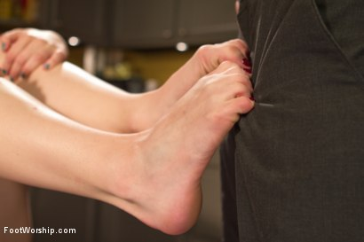 Photo number 14 from Devastating Blonde Foot Job shot for Foot Worship on Kink.com. Featuring Ella Nova  and Christian Wilde in hardcore BDSM & Fetish porn.