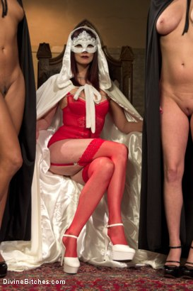 Photo number 16 from The Secret Femdom Society of Prostate Milking. shot for Divine Bitches on Kink.com. Featuring Cherry Torn, Maitresse Madeline Marlowe , Mona Wales, Daisy Ducati, Patrick Knight, Ella Nova  and Wenona in hardcore BDSM & Fetish porn.