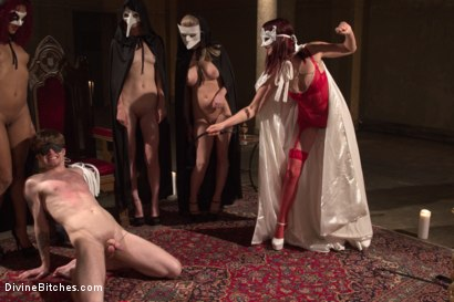 Photo number 4 from The Secret Femdom Society of Prostate Milking. shot for Divine Bitches on Kink.com. Featuring Cherry Torn, Maitresse Madeline Marlowe , Mona Wales, Daisy Ducati, Patrick Knight, Ella Nova  and Wenona in hardcore BDSM & Fetish porn.
