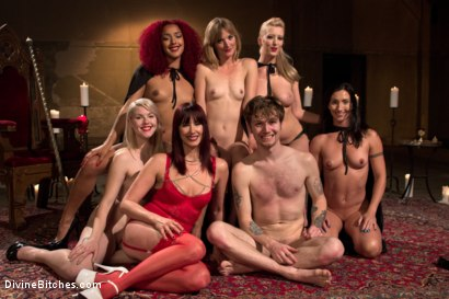 Photo number 10 from The Secret Femdom Society of Prostate Milking. shot for Divine Bitches on Kink.com. Featuring Cherry Torn, Maitresse Madeline Marlowe , Mona Wales, Daisy Ducati, Patrick Knight, Ella Nova  and Wenona in hardcore BDSM & Fetish porn.