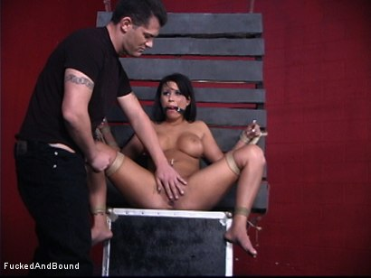 Photo number 7 from Face Fucked Bitch shot for  on Kink.com. Featuring Eva Angelina and Chris Cannon in hardcore BDSM & Fetish porn.
